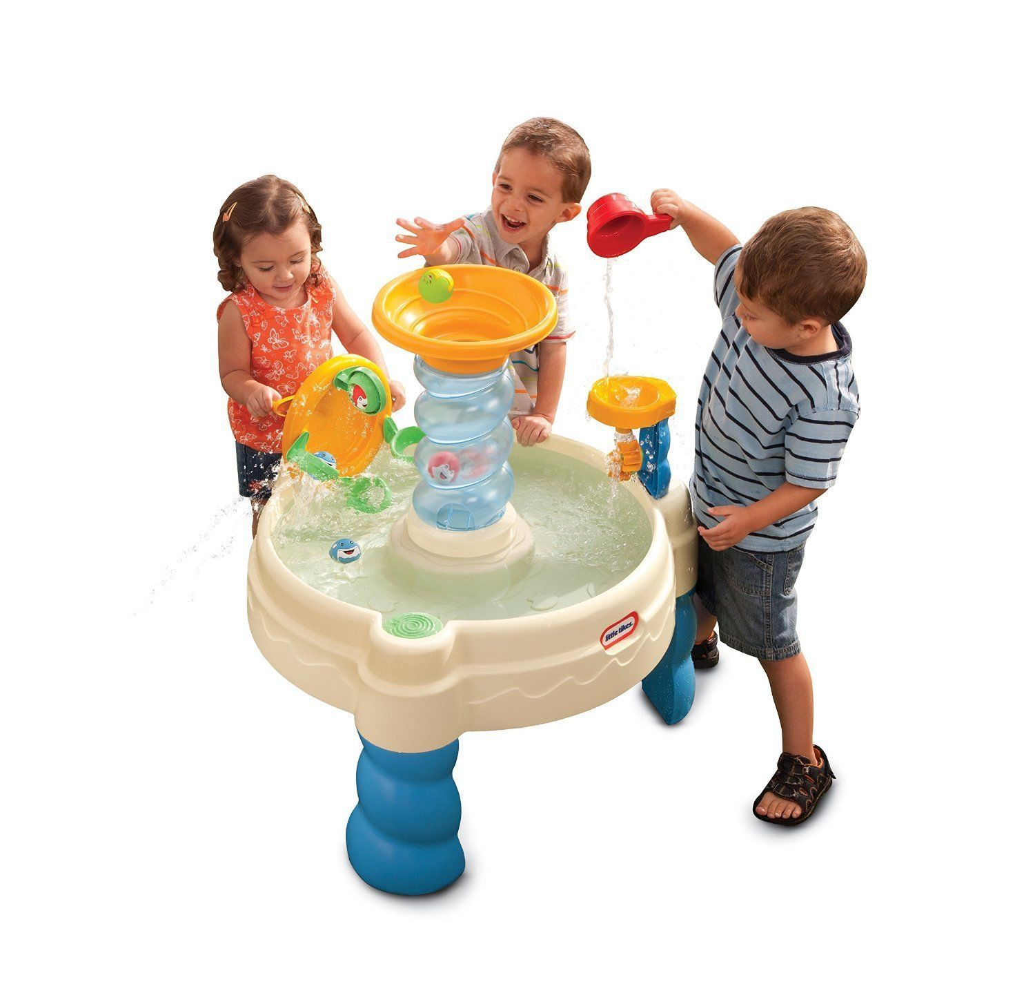Outside Toys For Day Care : Kids water table squirting balls cup funnel outdoor play