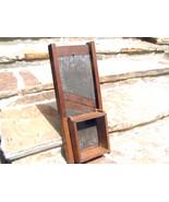 OLD Antique Primitive Wooden Metal Slaw Cutter Cabbage Shredder Board WI... - $149.98