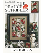 Evergreen REPRINT christmas cross stitch chart Prairie Schooler  - $10.80