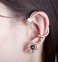 18K RGP Cute Opal Spider Cobweb Ear Cuff for Women - $15.99
