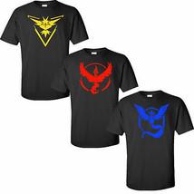 Pokemon GO Iron-on DIY Choose Team Valor Team Mystic Team Instinct Tee S... - $5.49