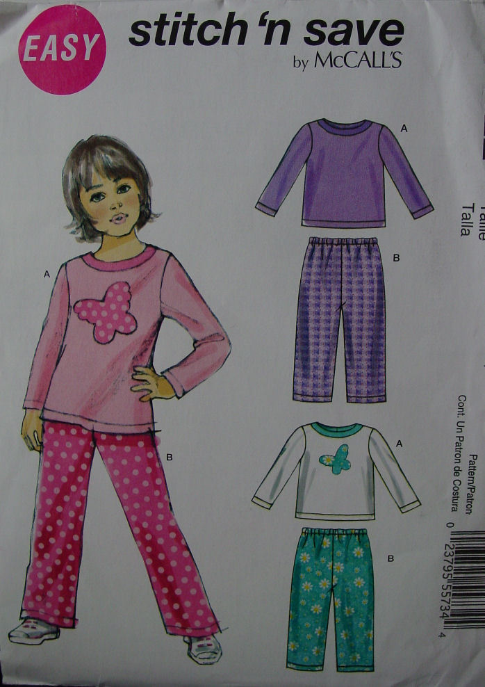 Pattern 6422 Childs Top , Pants sz 3-6 Easy