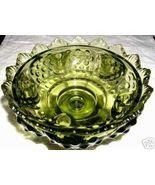 FENTON Hobnail Green Glass Candleholder Bowl MINT - $89.99