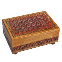 Polish Handmade Wooden Secret Puzzle Box Secret Opening Jewelry Box Keep... - €34,32 EUR