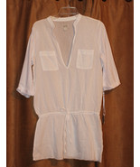 NEW WHITE GAUZE SHEER URBAN BOHO HIPPIE CHIC 3/4 SLEEVE TOP TUNIC SHIRT ... - $19.99