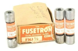 BOX OF 3 NEW COOPER BUSSMANN FNJ 1/2 FUSETRON DUAL-ELEMENT FUSES FNJ12