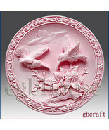 2D Silicone Soap Mold – Birds in Scarlet Pimpernel garden - $26.00