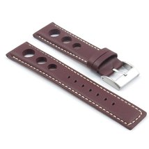 StrapsCo Dark Brown GT Rally Racing Leather Watch Strap in size 24mm - $24.99