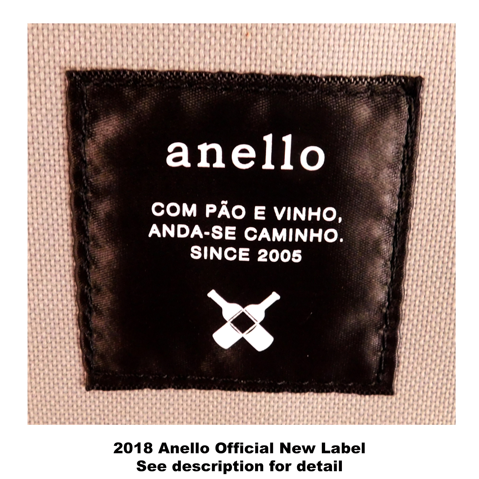 Anello Official Japan Light Grey Regular Backpack Rucksack Diaper Travel Bag image 3