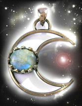 Haunted Necklace Ancient Circle Harness Every Moon's Power Secret Ooak Magick - $8,299.77