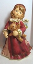 Goebel Angel Girl Figurine Teddy Bear Large Weihnacht Magical Christmas - $44.54