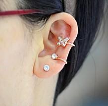 Diamond Butterfly 18K RGP Ear Cuff Punk Earrings - $12.99