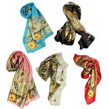 New Scarf Thin Silk Floral Scarf Spring And Autumn Large Square Scarf Head  - $8.50