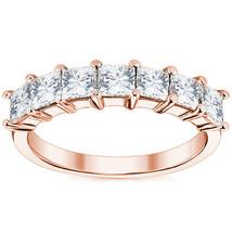 1.75CT Unique Square Brilliant Cut Moissanite 7 Stone Wedding Band Ring 14K RG - $868.23