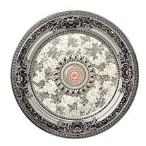 """Decorative 24"""" Silver Rococo Round Ceiling Medallion Classic Baroque"""