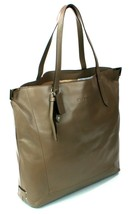 Coach Flint Brown Leather Signature Shopper Tote Bag Medium Handbag - $329.17