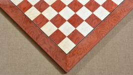 "Wooden Red Ash Burl Maple Hi Gloss Finish Chess Board 24"" - 60 mm - SKU: B1011 - $350.99"