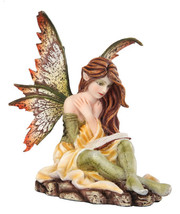 Autumn Fairy Reading Statue Fairyland Legend Ada Leyendo Libro Otono - $20.99