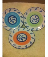 (3) TABLETOPS UNLIMITED--SALAD PLATES--3 COLORS --AUTUMN BLUE--FREE SHIP... - $22.60