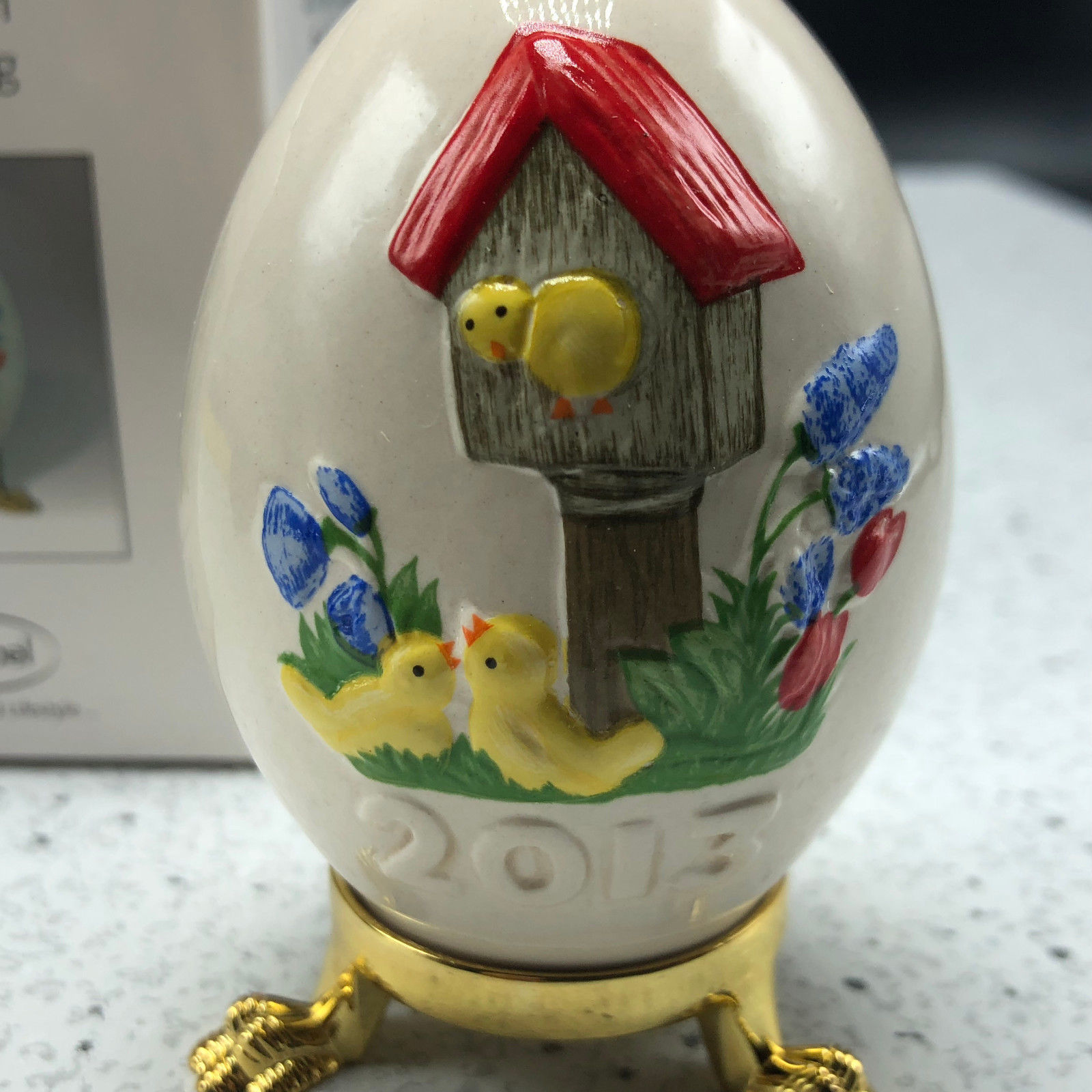 2013 GOEBEL ANNUAL EASTER EGG West Germany 36th edition figurine bird house chic