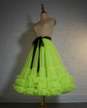 Fluorescent Green Layered Tulle Skirt Ballet Tutu Skirt Plus Size A-Line Layered image 2