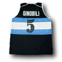 Manu Ginobili #5 Visa Team Argentina Basketball Jersey Navy Blue Any Size image 2