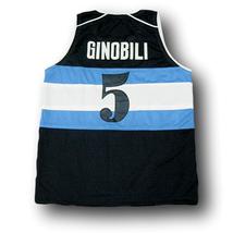 Manu Ginobili #5 Visa Team Argentina Basketball Jersey Navy Blue Any Size image 5