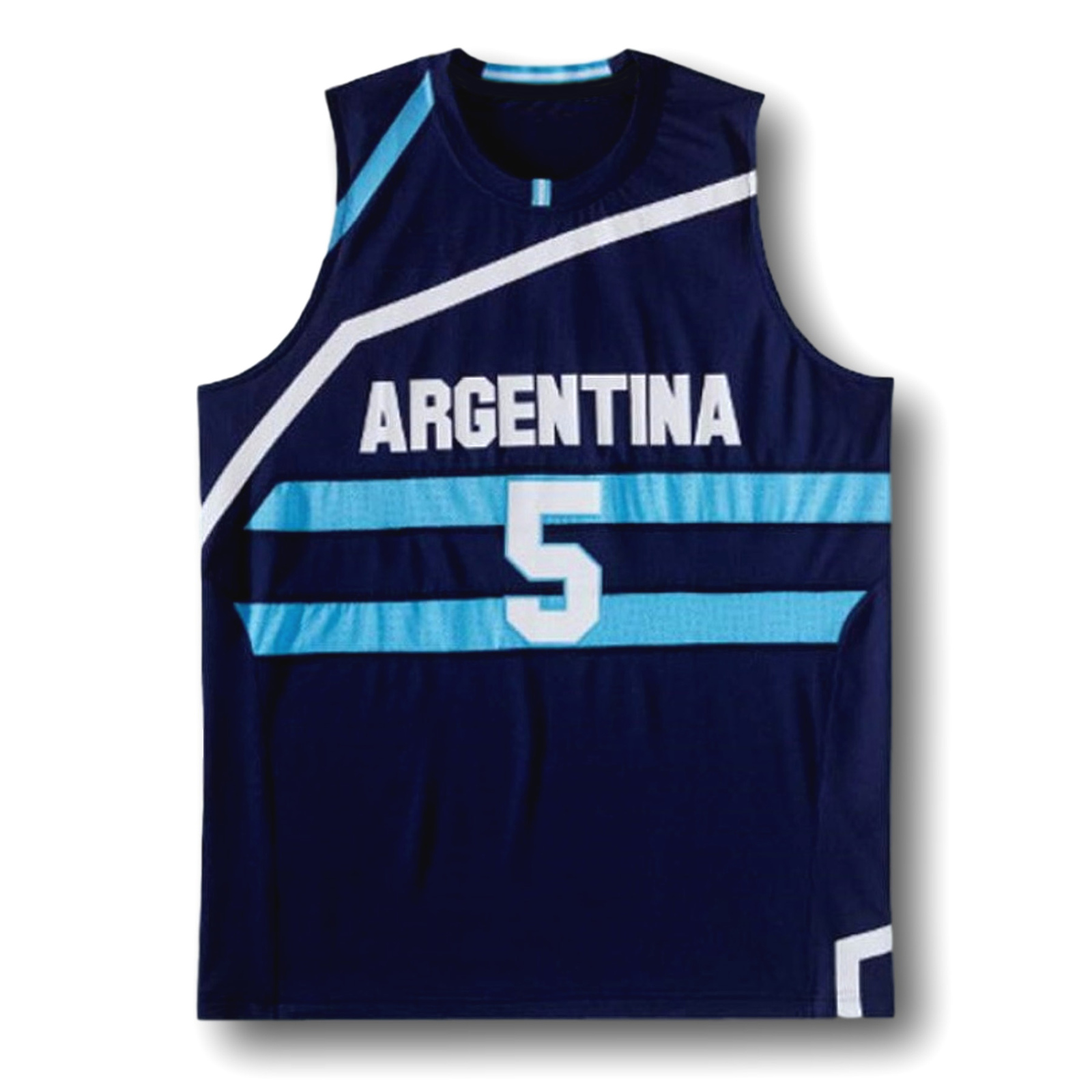 Manu Ginobili #5 Team Argentina New Men Basketball Jersey Navy Blue Any Size