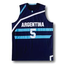 Manu Ginobili #5 Team Argentina New Men Basketball Jersey Navy Blue Any Size image 4