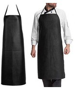Soft Leather Apron , Super Waterproof Oil And Stain Proof, Acid-Resista... - $30.40