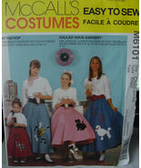 Pattern 6234 Childs Costume 1950s Poodle Skirts 10-12 - $5.00