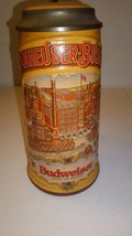 1988 Classic Collection Budweiser Beer Stein With Lid Made in West Germany - $23.99