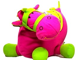 Sugar Loaf Plush Horse Stuffed Pony Animal Gift Pink Lime Green NWT (L3B32*) - $19.99