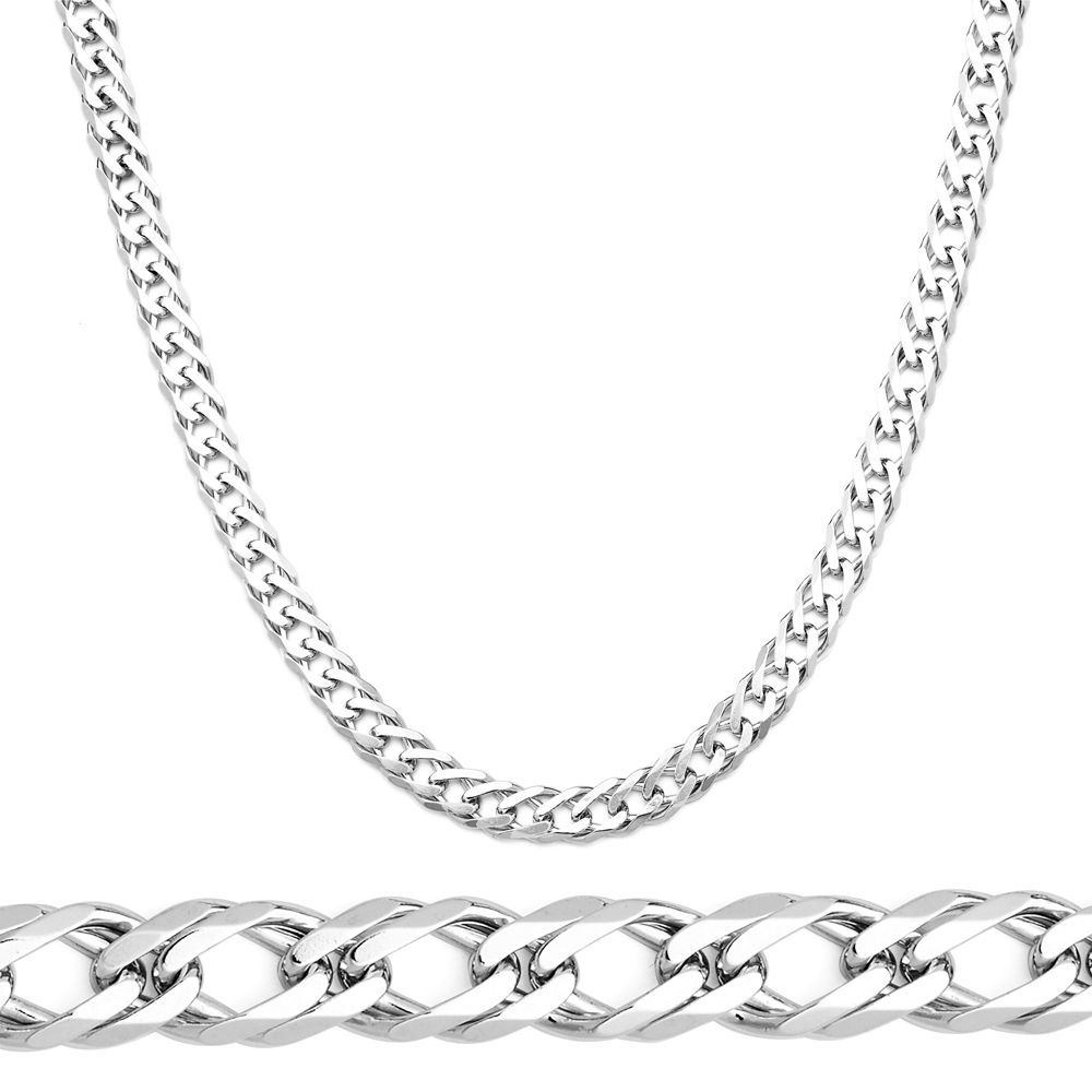 Men/Women's Stylish Italy 925 Silver Double Cuban Curb Link Italian Chain 6.2mm