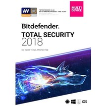 Bitdefender Total Security 2018 | 5 Devices, 1 Year New in Retail Box - $59.95