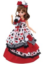 Rika Licca chan Doll & Clothes Studio Alice Trump Queen dress Japan Takara Tomy - $186.99