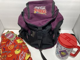 Rare Vintage 1994 Coca Cola Red Hot Summer Back Pack NWT Shorts And Mug - $74.25