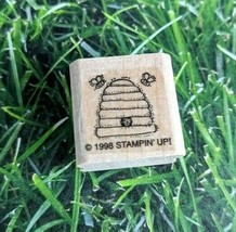 Stampin Up Rubber Stamp Beehive 1998 Two Bees Wooden Mounted  - $8.90