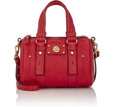 MARC by Marc Jacobs Rosy Red Leather Totally Turnlock Lil Shifty Satchel - $189.00