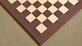 "Wooden Montgoy Palisander Maple Deluxe Chess Board 22"" - 55 mm - SKU: B1008 - $273.99"