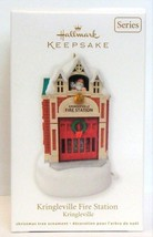 2012 Hallmark Kringleville Fire Station House Christmas Ornament Series #3 - $21.90