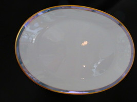 """Rosenthal Gala Blue CLASSIC ROSE Oval Platter 13""""   Loewy Mid Century - $39.99"""