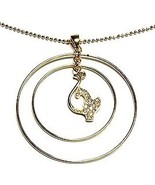 """2"""" Double Loop Crystal BabyPhat Gold Pendant Necklace NP108 - $9.99"""