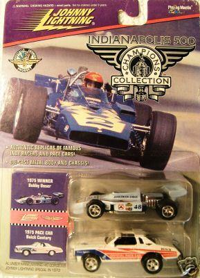 Johnny Lightning Indy 500 Champions 1975 Bobby Unser
