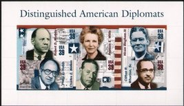 USPS 2006 Distinguished American Diplomats Sheet of 6 39 Cent Stamps Scott 4076 - $8.95