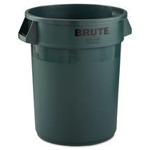 Rubbermaid Commercial Brute Refuse Container, Round, Plastic, 32 gal, Da... - $46.26