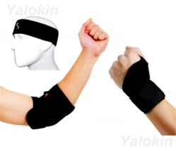 Cotton Sport Headband, Thumb Wrist Strap, Elbow Brace Strap for Recovery (ST4) - $16.49