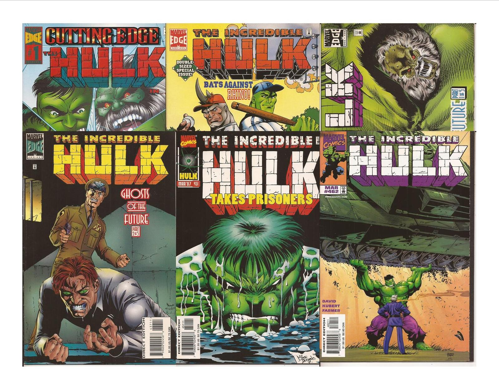 Marvel The Hulk Lot Hulk #1 Incredible Hulk #435,436,437,451, & 462