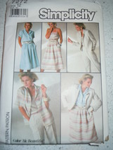 1985 Simplicity Miss Size 12 Pants Skirt Shirt Camisole & Jacket  Pattern #7272 - $3.99