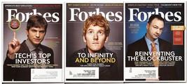 Forbes Lot Ashton Kutcher Thomas Tull Patrick Collison America Best Empl... - $4.95
